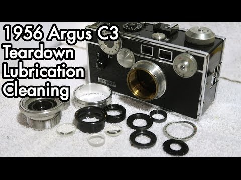 1956 Argus C3 Camera / Lens Teardown, Lubrication, Cleaning, Repair