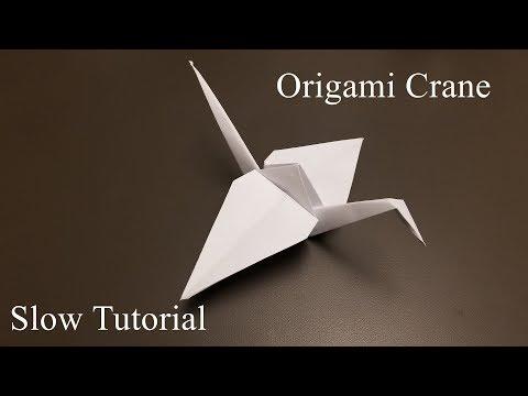 Origami Crane - How to Make the origami Crane - Slow Tutorial