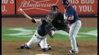 MLB Catcher Throws From the Knees