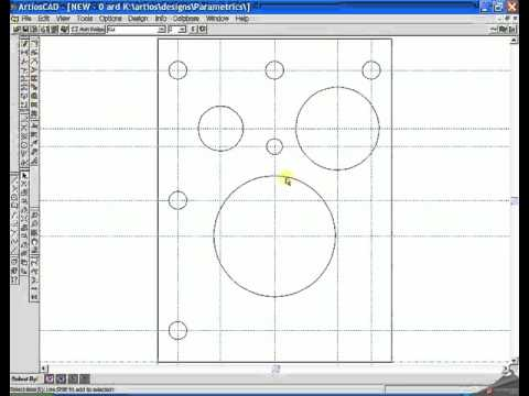 how to draw square gaskets with bolthole in ArtiosCad