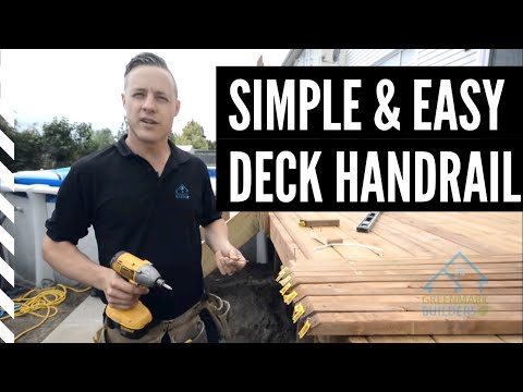 How to build an economical deck railing out of wood