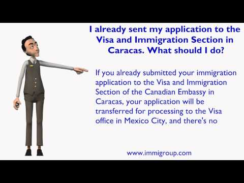 I already sent my application to the Visa and Immigration Section in Caracas. What should I do?