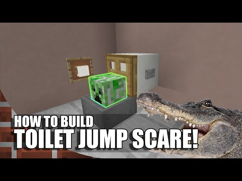 How To Build A Toilet Jump Scare In Minecraft!