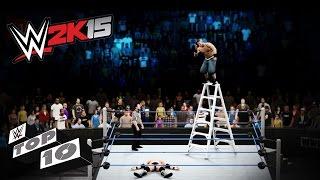 High Flying Ladder Maneuvers - WWE 2K15 Top 10