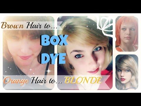 BOX DYING DARK HAIR BLONDE!