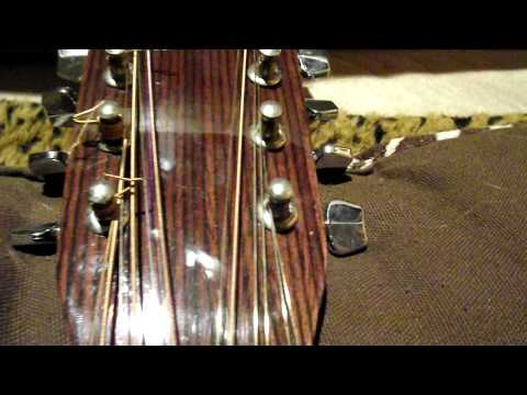 How to string a 12 string guitar. String sequence.