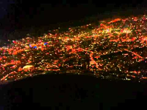 approaching London City Airport @ night