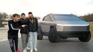 Destroying Our Friend's Car And Surprising Him With The New Tesla Cybertruck!