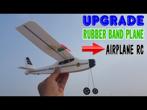 Upgrade Rubber Band Plane to Airplane RC