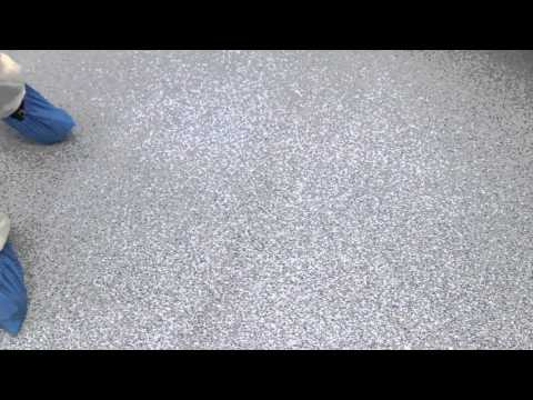 Clean and Disinfect Non-Skid Cleanroom Floors