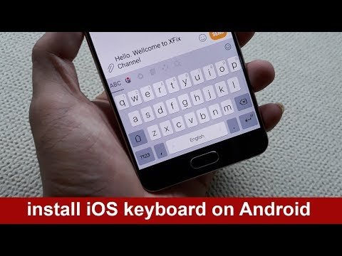 How to install iOS keyboard on Android