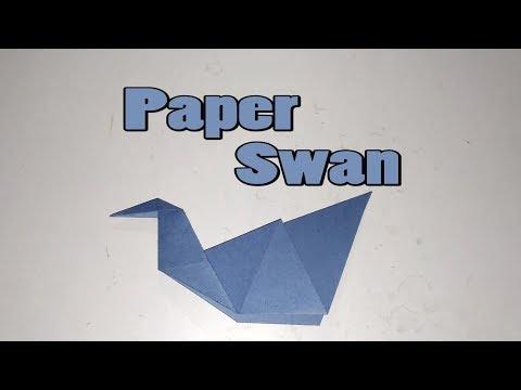 How to make a Paper Swan || Paper Swan || Paper Crafts || DIY Paper Swan || Origami Swan