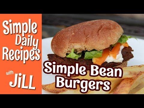 Simple Bean Burgers - Simple Daily Recipes