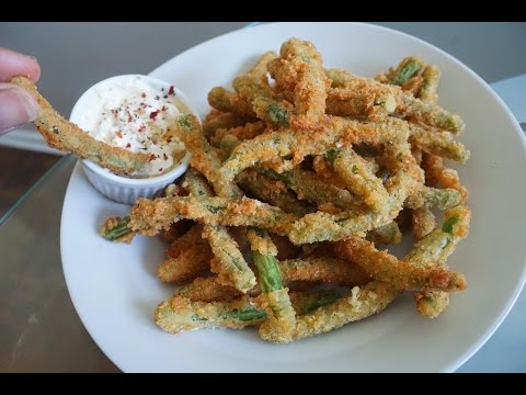 Amazing Crispy Fried Green Bean Fries Recipe| Less than 10 mins