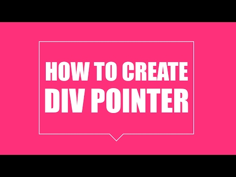 How to create Div Pointer - pure html css tutorial