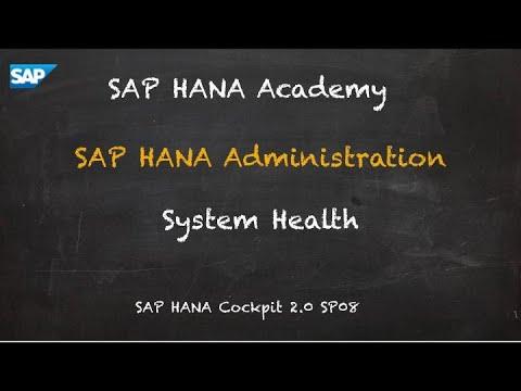 [2.0 SP08] SAP HANA Administration: System Health - SAP HANA Academy