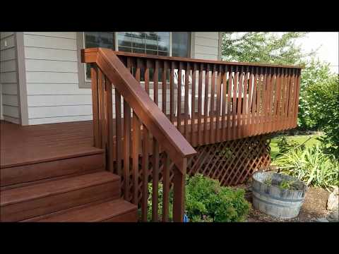 Deck Stained with HVLP Sprayer (Jatoba w/extra brown)