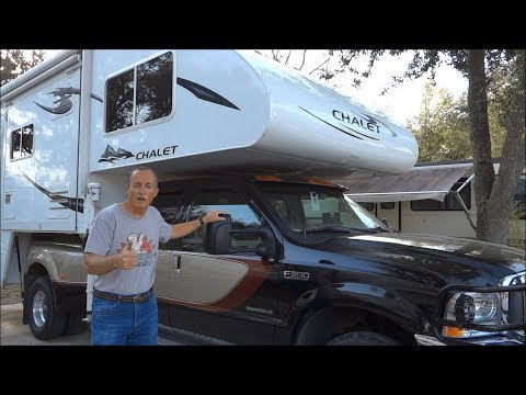 How to Load a Truck Camper onto a Pickup with Rollers!