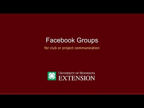 4-H Club/Project Leader Facebook Group Tutorial