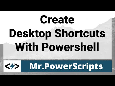 Create Shortcuts with Powershell !
