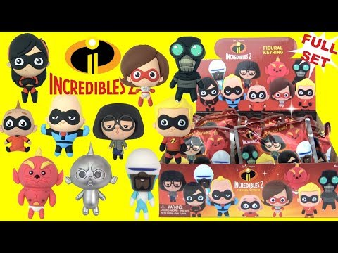 Disney Pixar THE INCREDIBLES 2 Figural Keyrings TOYS with Superheroes and Baby Jack Jack