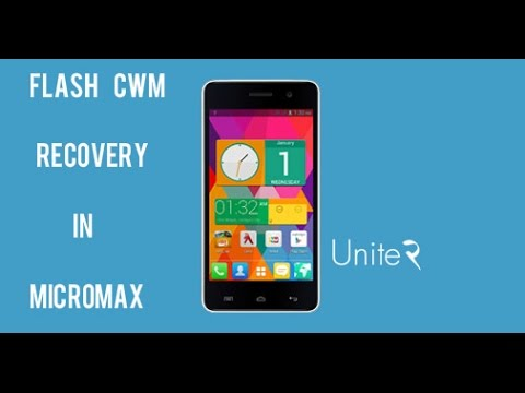 How to install cwm recovery on micromax unite2
