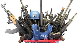 BOX OF TOYS ! GunsToys Police & Military  - Video For Kids / What