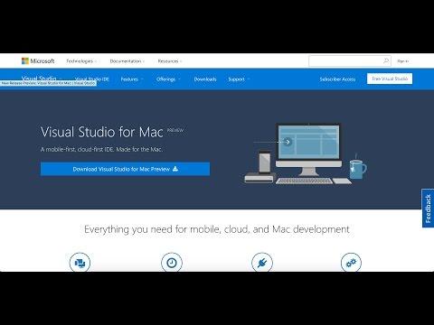 Visual Studio For Mac 2016 - Hello World