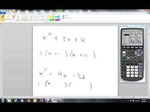 Using TI 83 To Factor Trinomials With A = 1