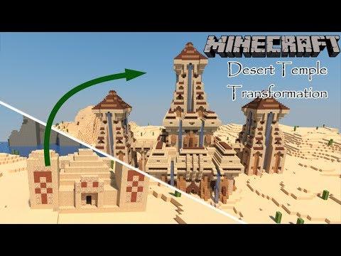 Minecraft Desert Temple Transformation