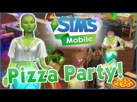 Pizza Party & Sticker Pizzazz!! 🌼 Sims Mobile 🏡 Episode #3