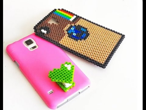 {DIY} Instagram and Selfie Phone Cases - Perler Beads
