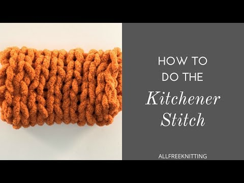 How to Do the Kitchener Stitch