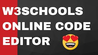 W3Schools.com Online Code Editor For Running and Saving HTML Code Full Demo Video