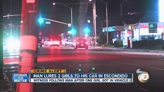 Man lures 2 girls to his car in Escondido