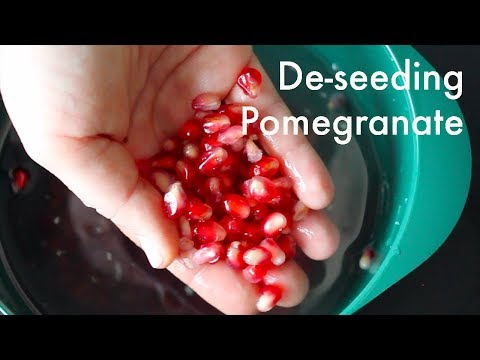 The Easiest Way to De-seed a Pomegranate (use the water method!)