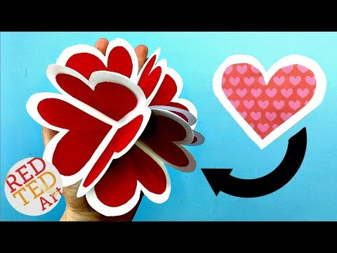 3D Pop Up Heart Card DIY - Alternative Explosion Card - Circular Heart Card - Easy Valentines DIY