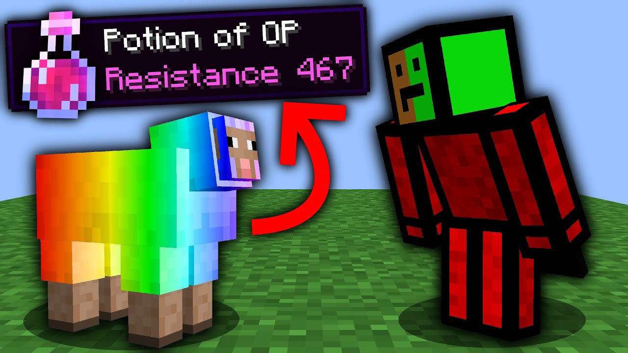 Minecraft, But Shearing Drops OP Items...