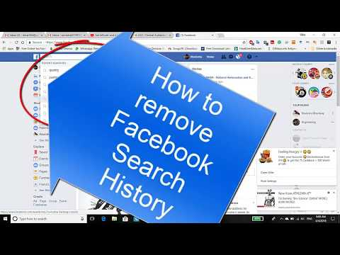 How to remove Facebook Search History