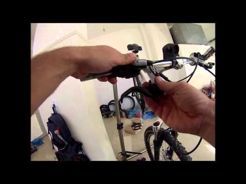 how to put and adjust the rear hydraulic disc brake in mountain bike