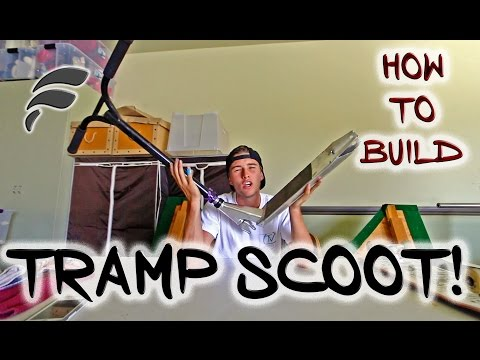 HOW TO MAKE A TRAMPOLINE SCOOTER (WITH TRICKS)