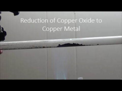 Reduction of Copper Oxide with Hydrogen