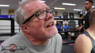 """Freddie Roach """"Golovkin getting older, got exposed a bit. Ward maybe outboxes him"""""""