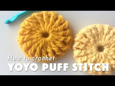 How To Crochet Yoyo Puff Stitch