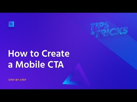 Build a Mobile CTA with Elementor - Step-by-Step