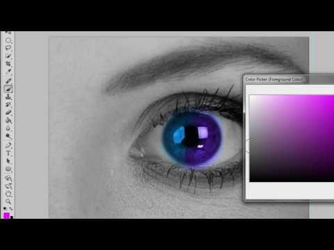 Change Eye Colour In Black&White Photo (Photoshop CS5)