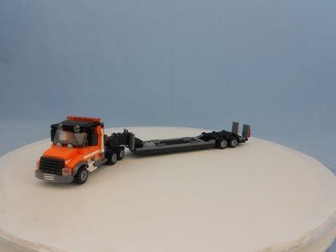 Custom LEGO Semi With Detachable Gooseneck Trailer
