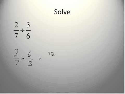Division of Fractions (Simplifying Math)