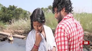 South Indian Mallu aunty bathing in wet dress
