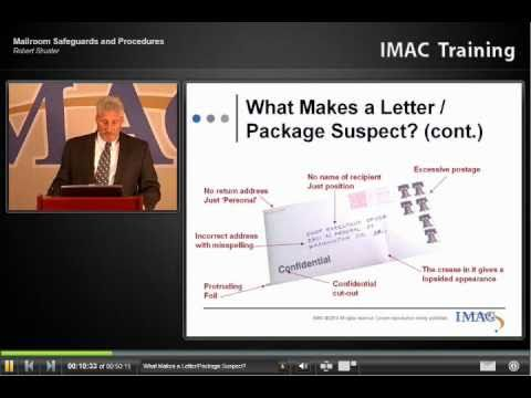 AFIMAC - Mailroom Safeguards and Procedures to Identify and Handle Suspicious Packages